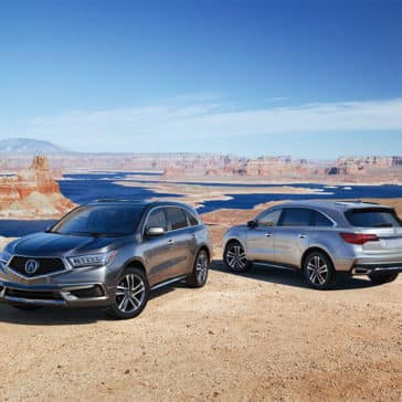 Silver 2018 Acura MDX Advance Pkg at Lake Powell