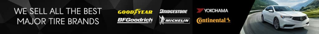 We sell all the Best Major Tire Brands Banner