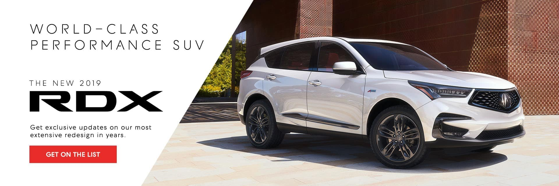 New 2019 RDX - Get on the list Banner
