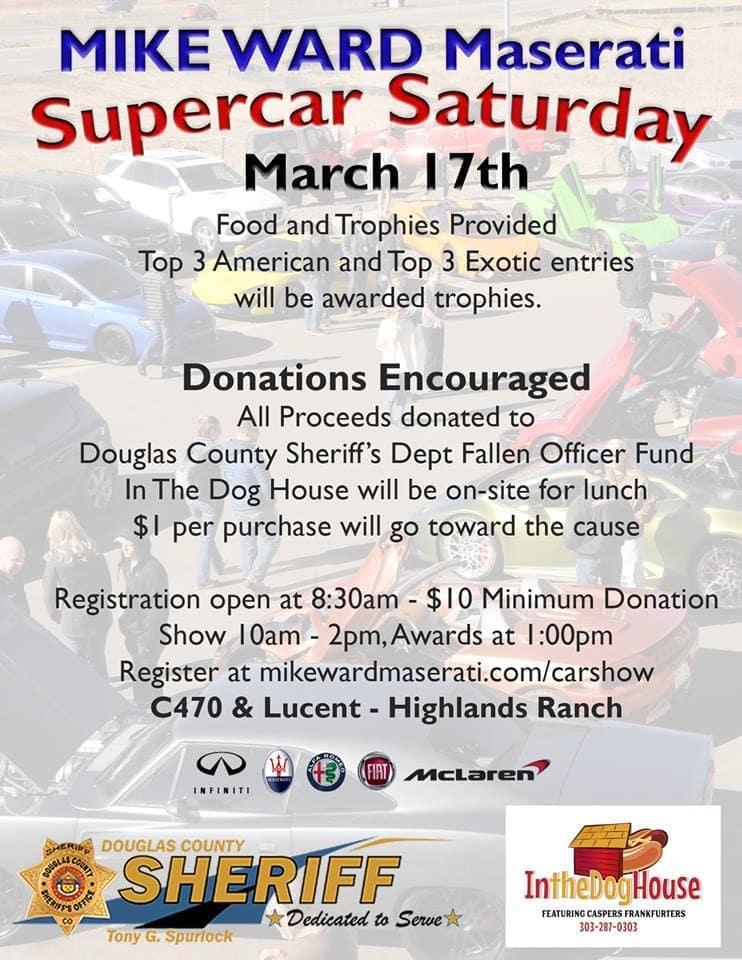 SuperCar Saturday Car Show March 17