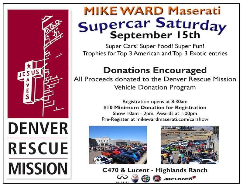 SuperCar Saturday Car Show Near Denver On Saturday September - Car show tomorrow