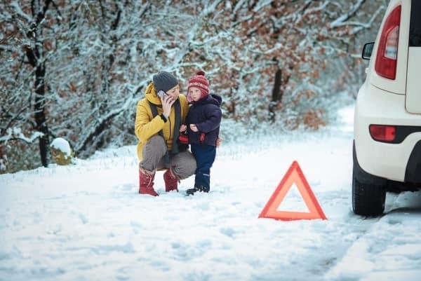 Roadside winter safety tips