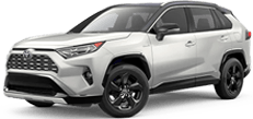 Angled view of the 2020 Rav4 Hybrid