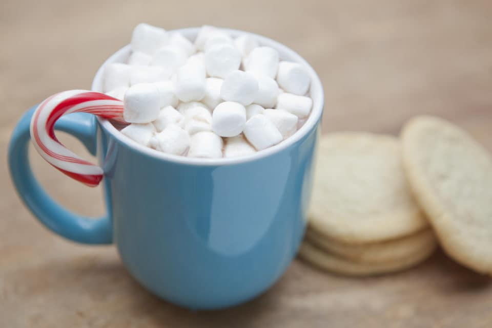 Hot Chocolate For Christmas with Cookies