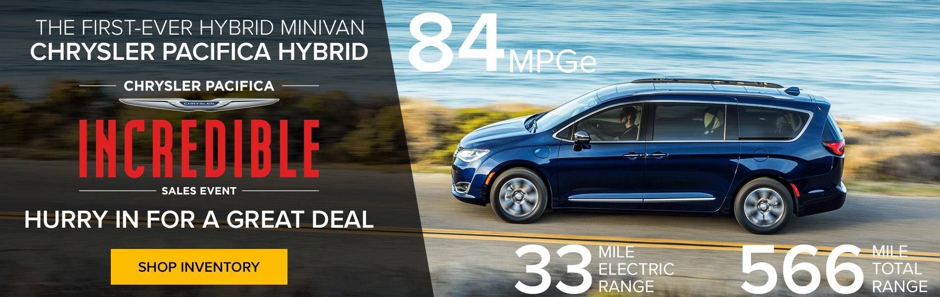 The first-ever hybrid minivan. The Chrysler Pacifica Hybrid. Be a super hero family.