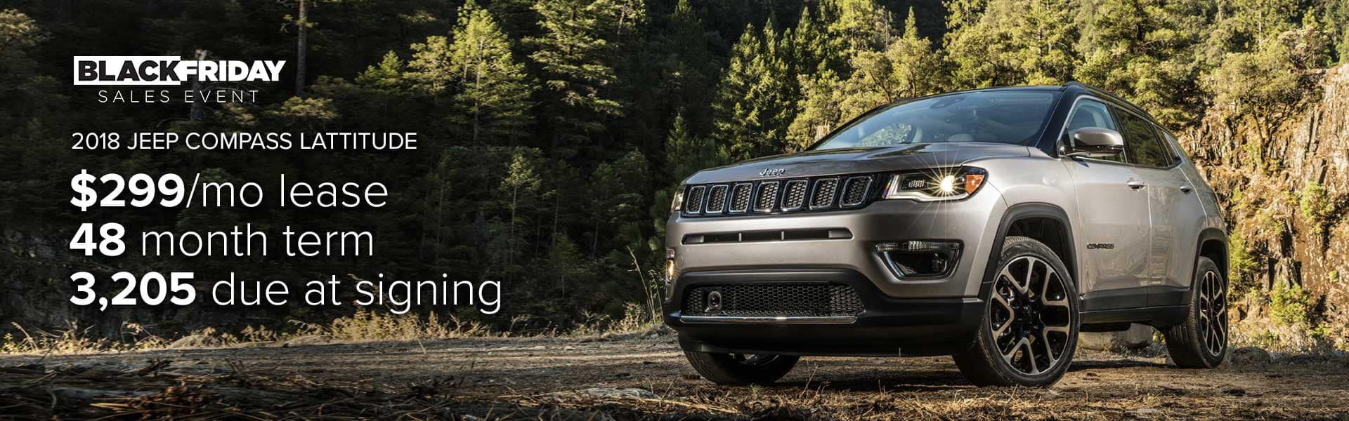 Lease a 2018 Jeep Compass for $299 per month!