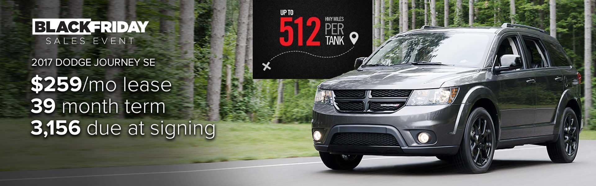 Lease a 2017 Dodge Journey for $259 per month!