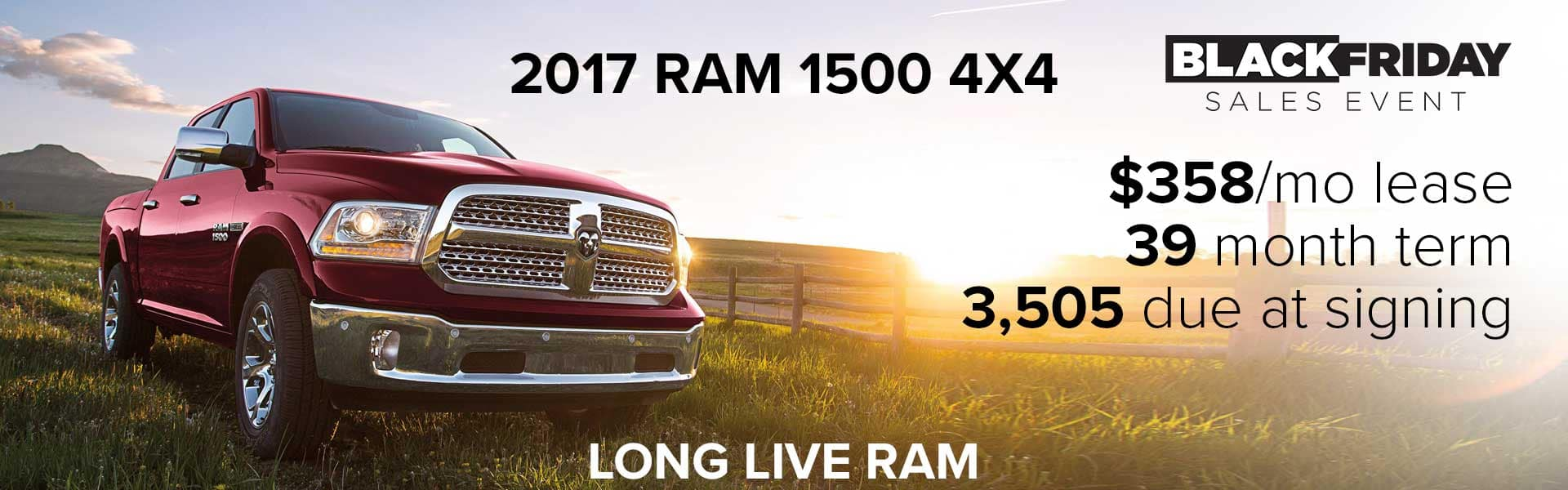 Lease a 2017 RAM 1500 4x4 Big Horn for $358 per month!