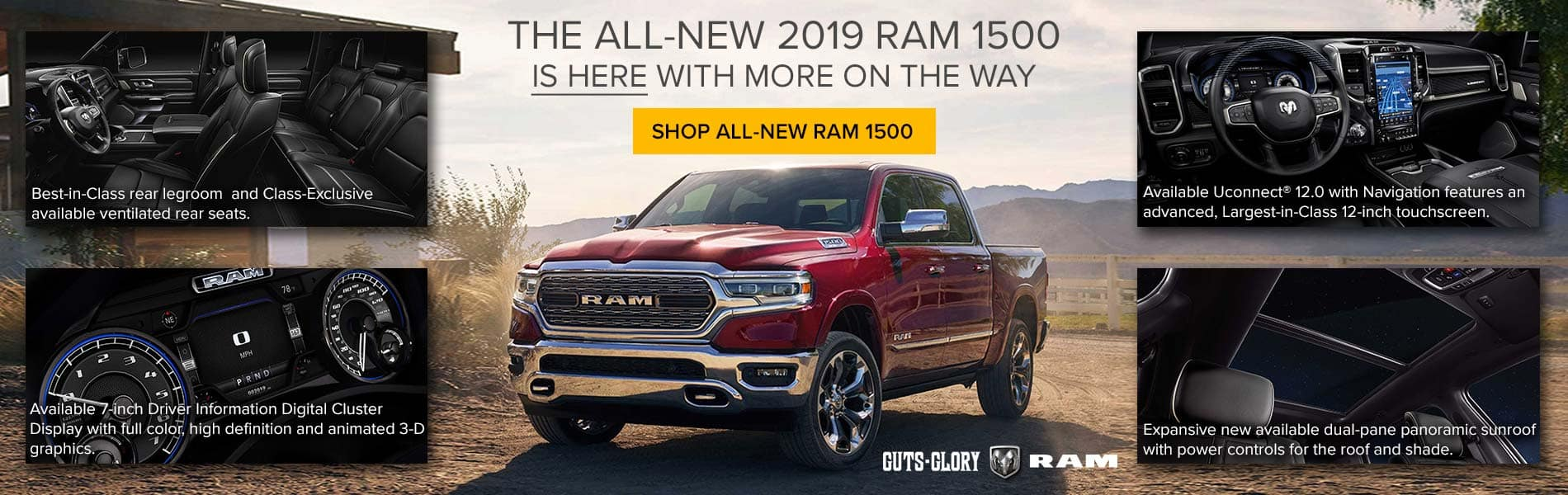 The all-new 2019 RAM 1500 is now here with more on the way.