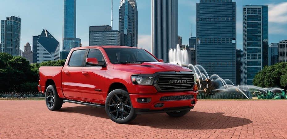 2020 RAM 1500 Lamarie with the available Night Edition Appearance Package, which features all black exterior accents