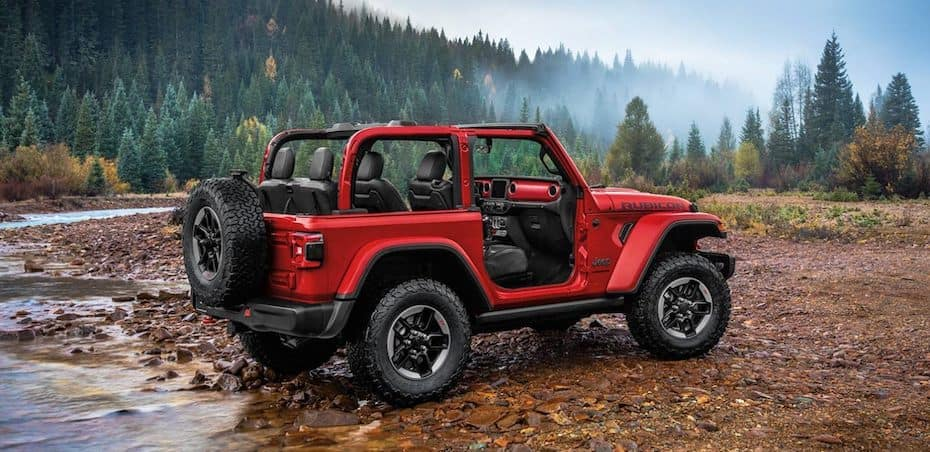 2020 Jeep Rubicon side exterior with no doors