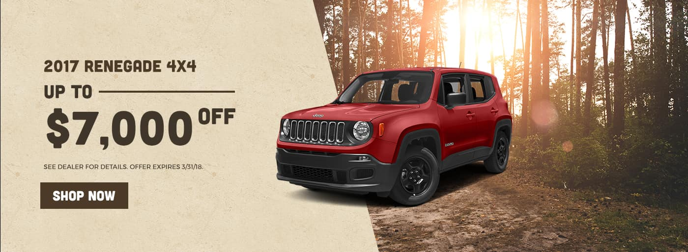 2017 Renegade 4x4 up to $7000 off