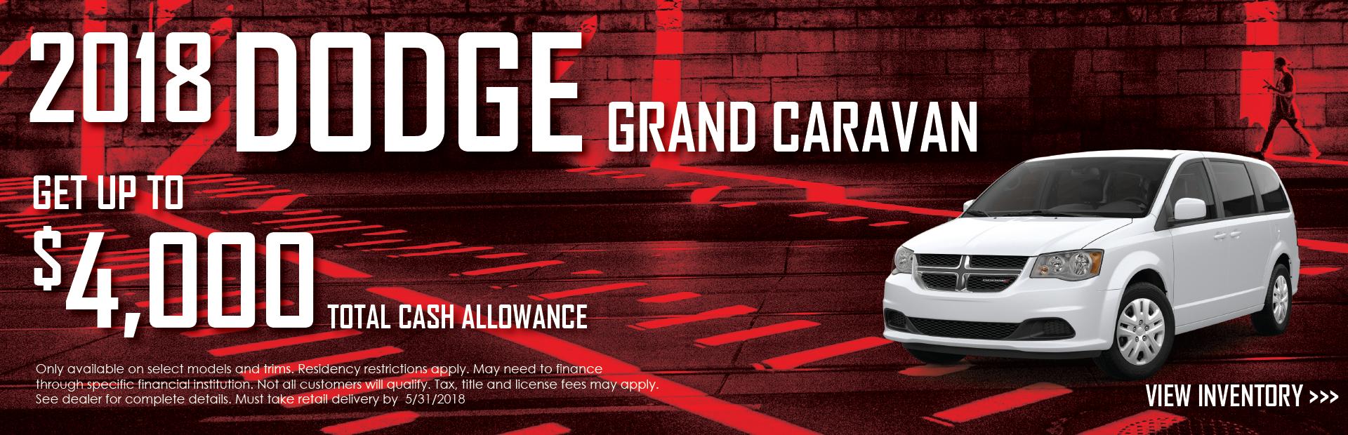 2018 Dodge Grand Caravan Banner
