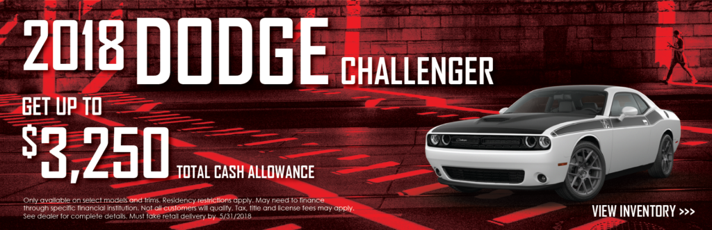 2018 Dodge Challenger Offers Banner