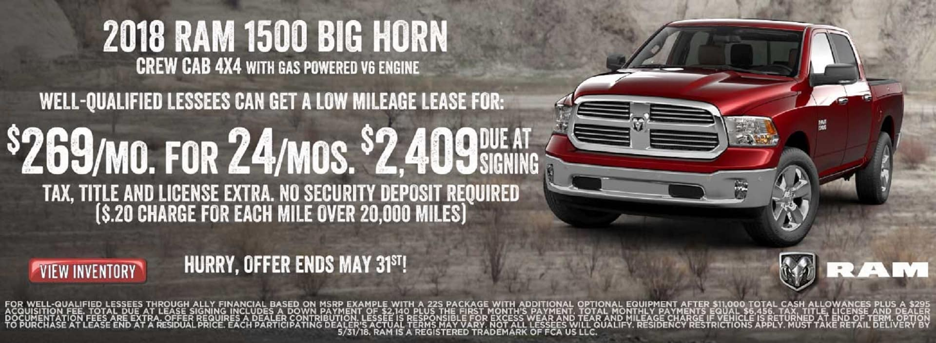 Ram Big Horn Lease Offers Banner
