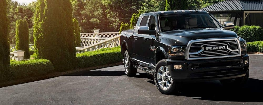 Black 2018 Ram 2500 Parked by Golf Course