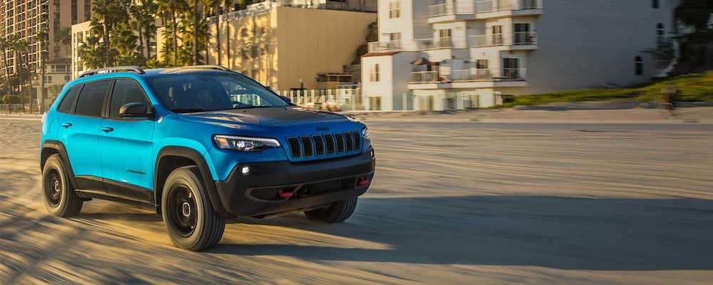 2019 Jeep Cherokee Driving on Beach