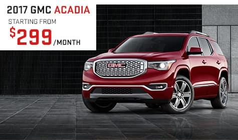 2017 GMC Acadia Lease Special
