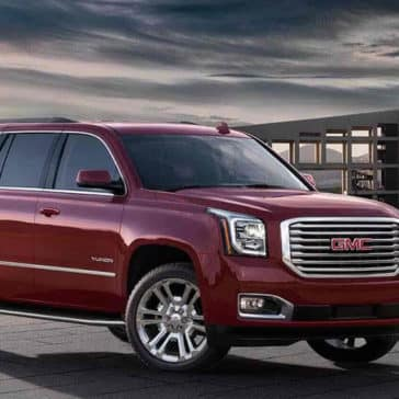 2018 GMC Yukon in red