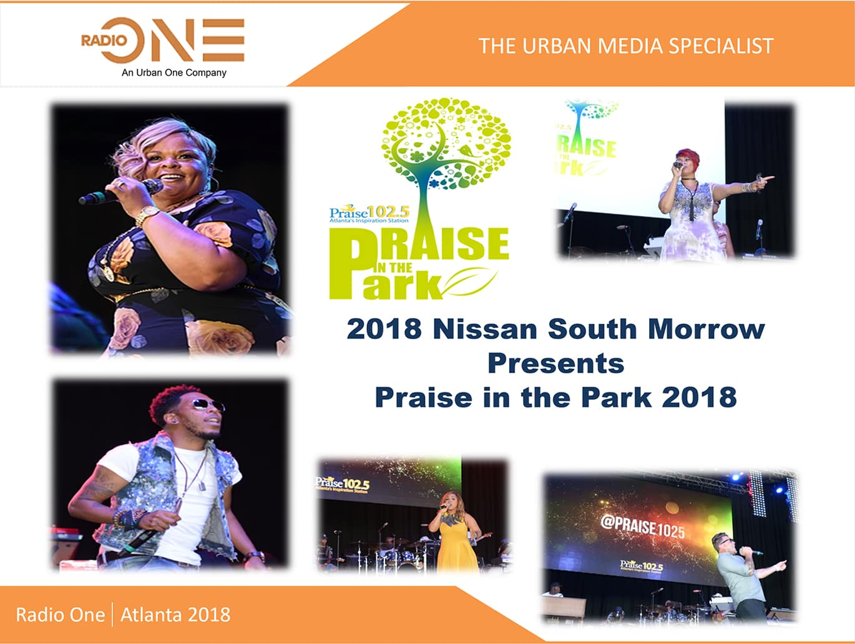 Flyer Praise In the Park 2018