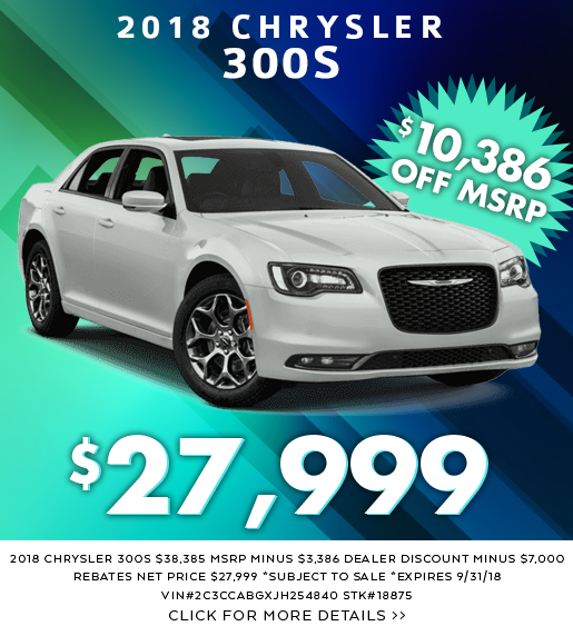 New Dodge Chrysler Jeep Specials