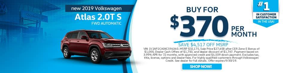2019 Volkswagen Atlas 2.0T S FWD Automatic