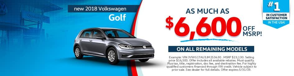 New 2018 Volkswagen Golf