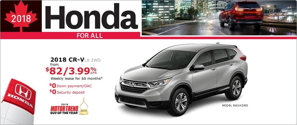 Honda Canada Incentives in Toronto, and the GTA.
