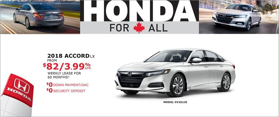 Honda Canada Incentives in Incentives in Toronto, and the GTA.