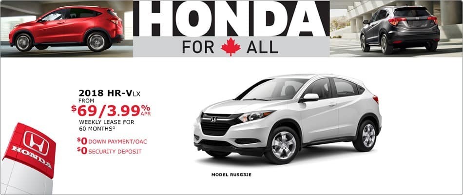 Honda Canada Incentives in Toronto, and the GTA.