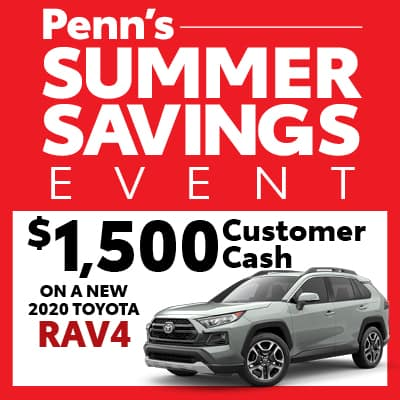 New 2020 Toyota Rav4 Customer Cash