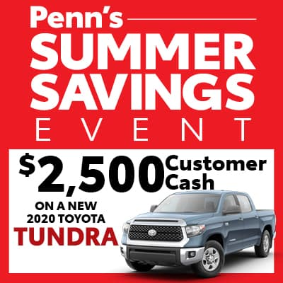 New 2020 Toyota Tundra Customer Cash