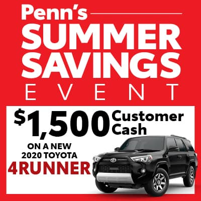 New 2020 Toyota 4Runner Customer Cash