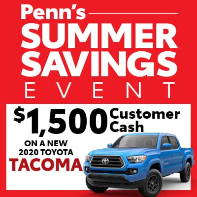 New 2020 Toyota Tacoma Customer Cash