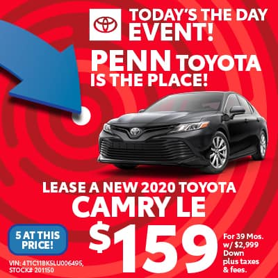 LEASE A NEW 2020 TOYOTA CAMRY LE AWD
