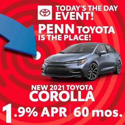 1.9% FOR 60 MONTHS ON NEW 2021 COROLLA