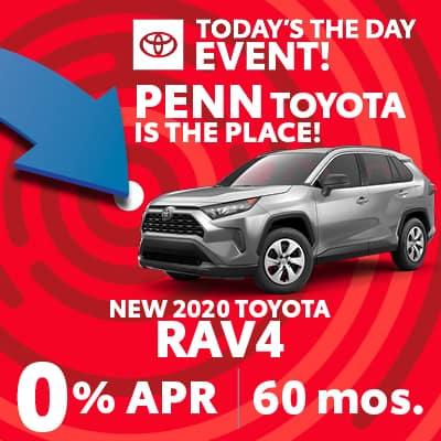 0% APR FOR 60 MONTHS ON NEW 2020 Rav4
