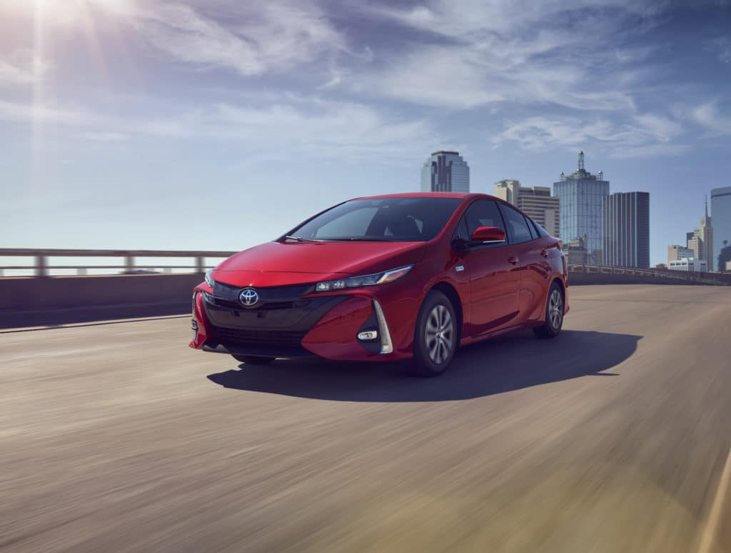 A Toyota Hybrid for Everyone at Penn Toyota | 2021 Toyota Prius Prime driving outside of city