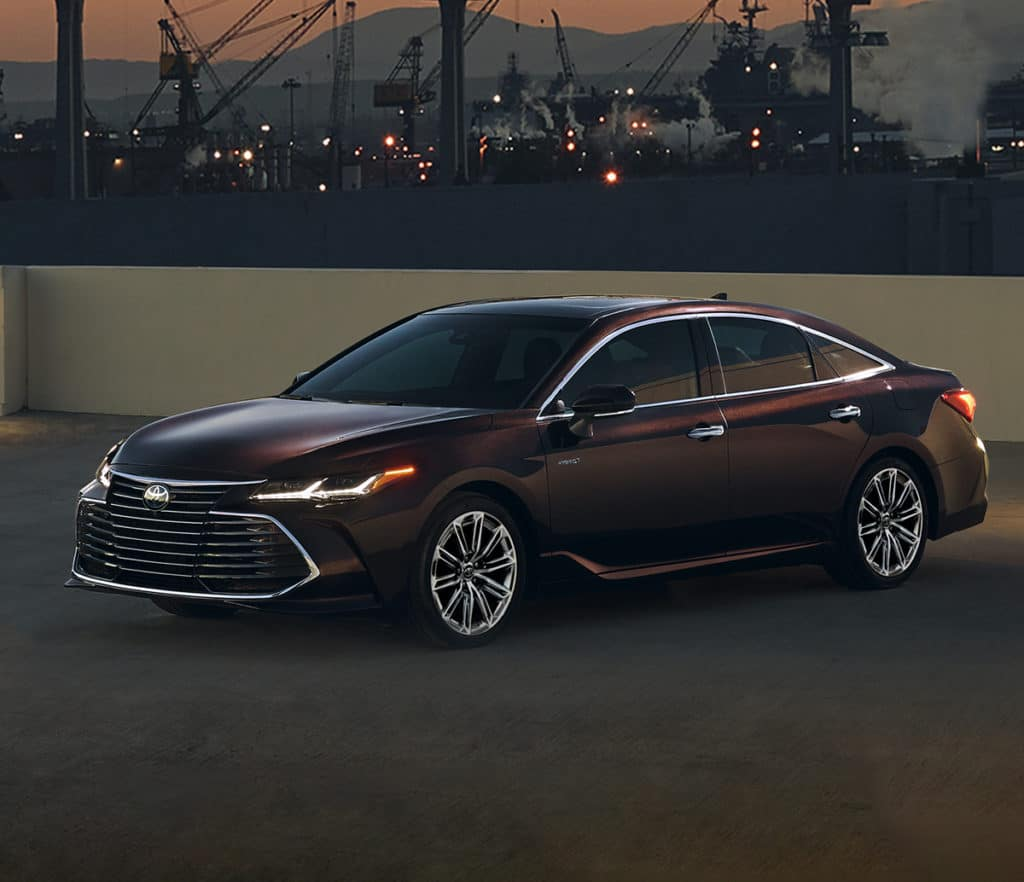 A Toyota Hybrid for Everyone at Penn Toyota | 2021 Toyota Avalon Hybrid on top level of parking garage