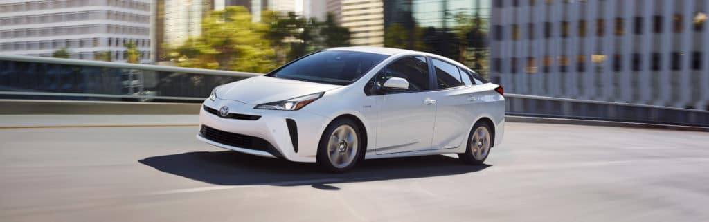 A Toyota Hybrid for Everyone at Penn Toyota | 2020 Toyota Prius driving in city