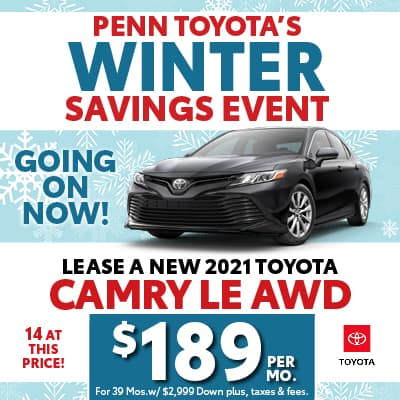 LEASE A NEW 2021 TOYOTA CAMRY LE AWD