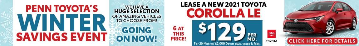 Corolla Winter Savings