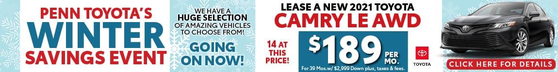 Camry Winter Savings