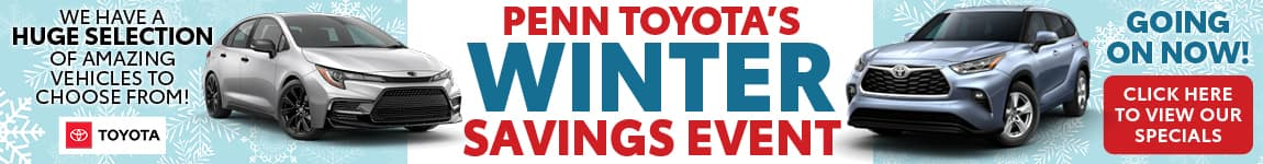 Penn Toyota's Winter Savings Event