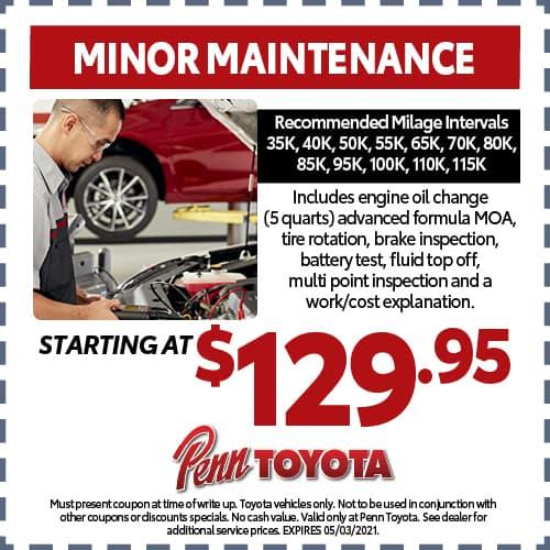Minor Maintenance Special