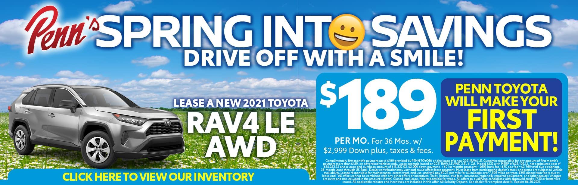 RAV4 Lease Offer