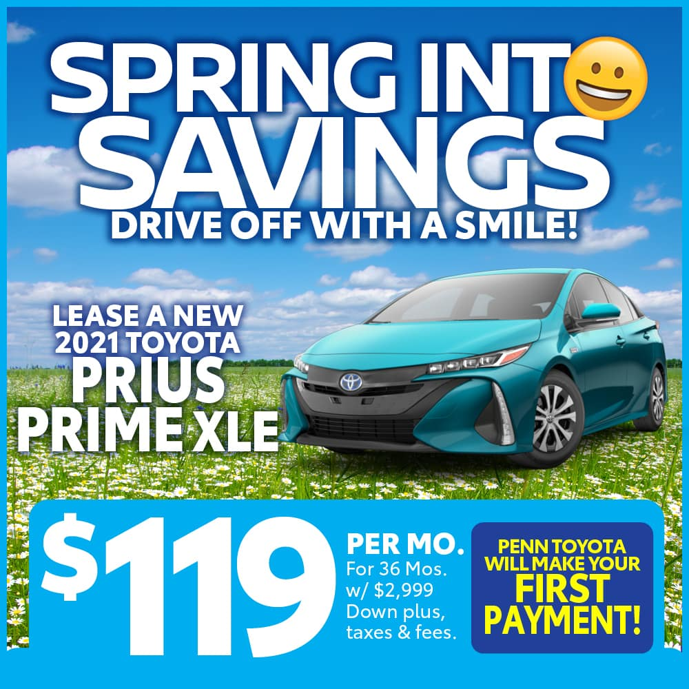 LEASE A NEW 2021 PRIUS PRIME XLE