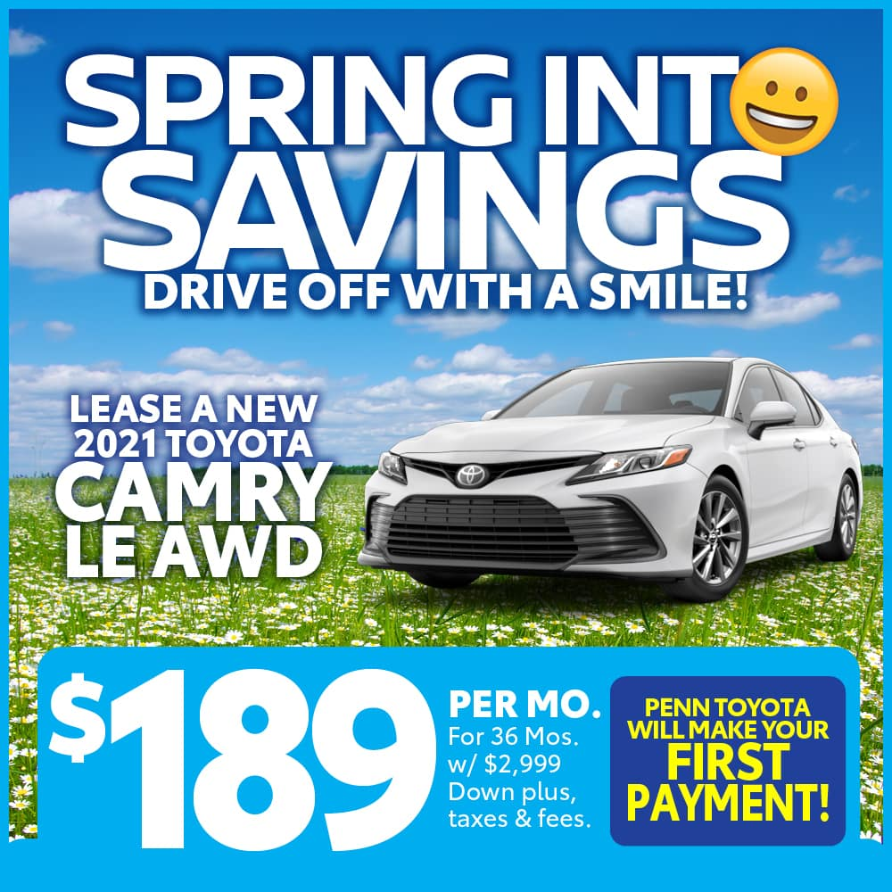 LEASE A NEW 2021 TOYOTA CAMRY LE
