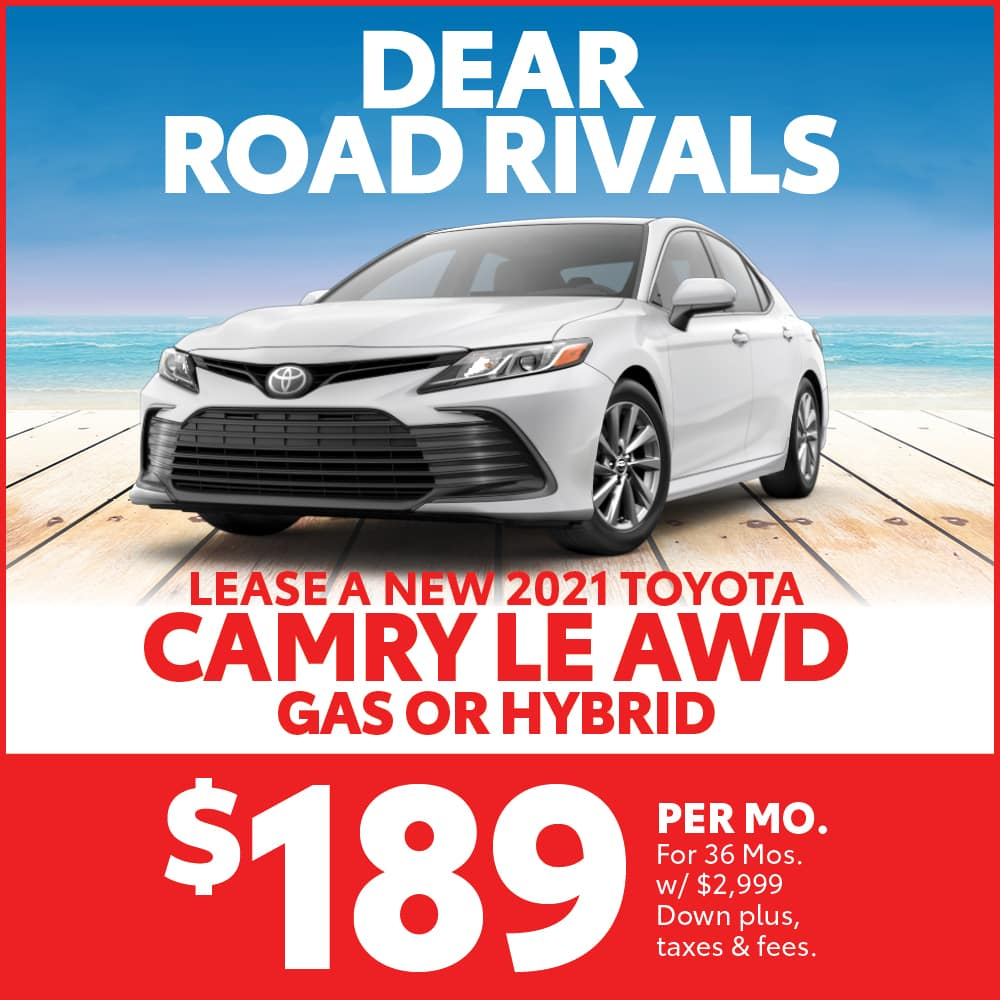 Lease a 2021 Gas or Hybrid Toyota Camry LE