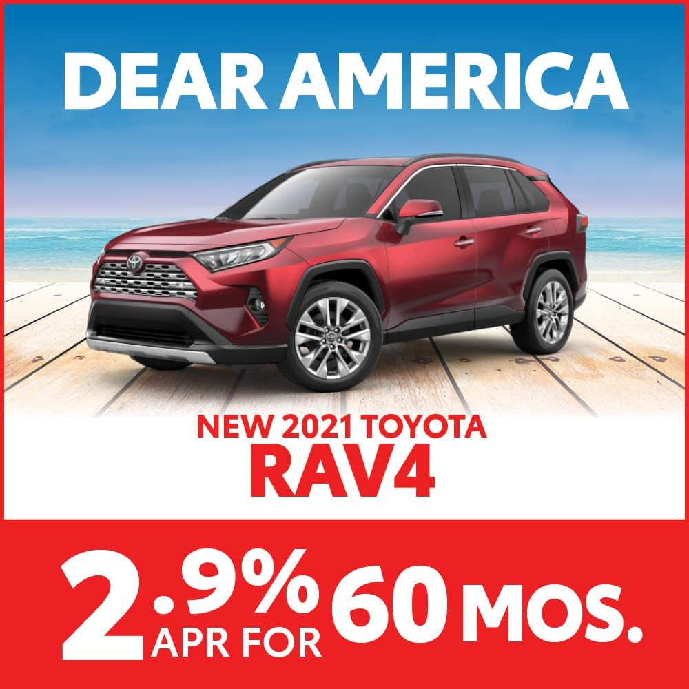 New 2021 Toyota RAV4 2.9% APR for 60 months